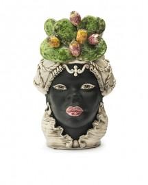 Vase en Céramique, Femme Maure - Figues de Barbarie