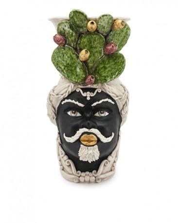 Vase en Céramique, Homme Maure - Figues de Barbarie