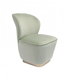 Lime Green Velvet Armchair Louison