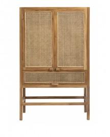 Teak Wardrobe Pilat - H160cm
