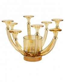 Vase Chandelier en Cristal Teinté H33cm