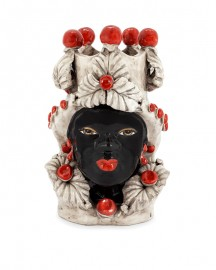 Vase en Céramique, Femme Maure Rouge