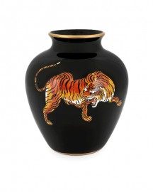 Vase in Ceramic, Tiger H24cm