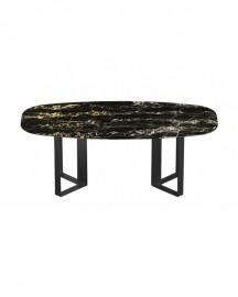 Table Milano 200 cm, Marbre Noir Portoro, Sur Commande