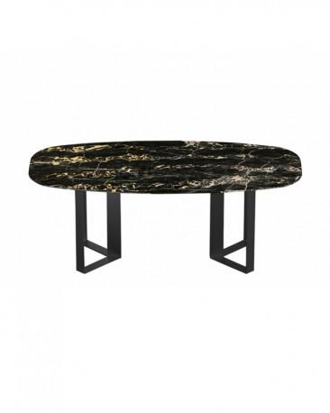 Table Milano 200 cm - Marbre Portoro  - Sur Commande