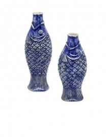 Vases Céramique Poissons - Ensemble de 2