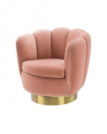 Swivel  Armchair Glossy, Pink