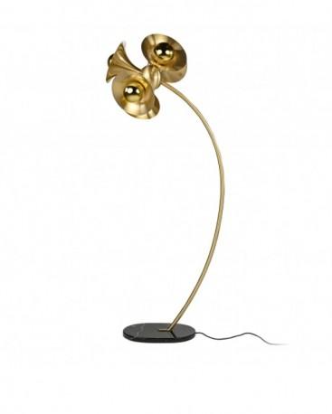 Floor Matt Brass Lamp Jazzy H183 cm