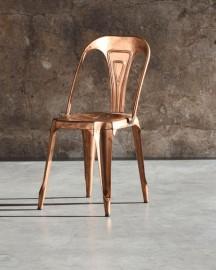 Chaise Style Tolix Cuivrée