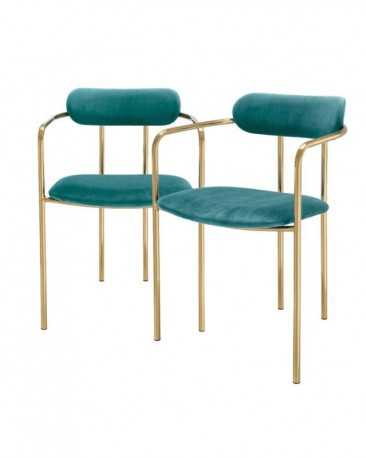 Dining Chair Dora Turquoise, set of  2
