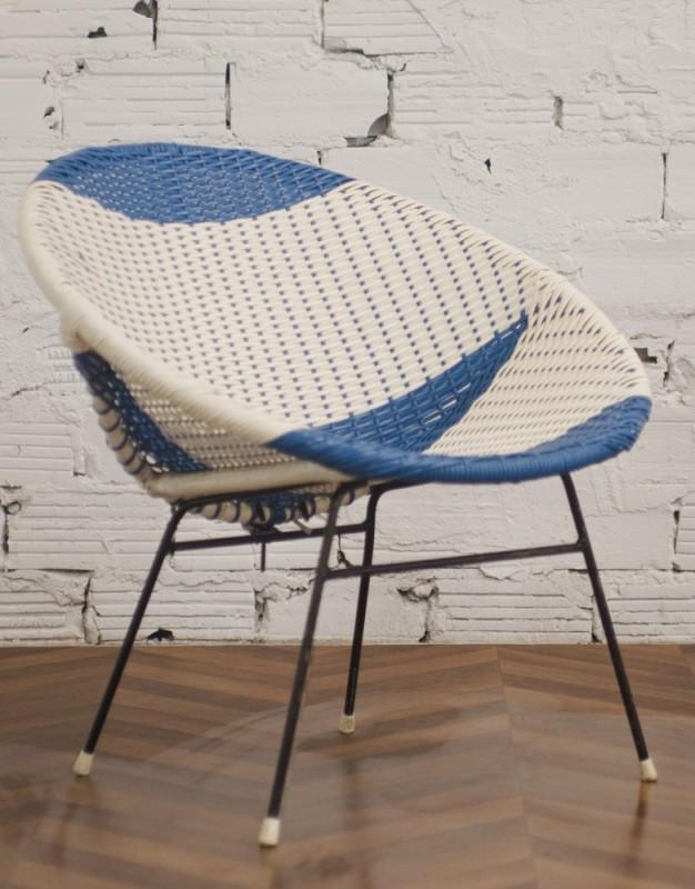 fauteuils en rotin fauteuils scoubidou vintage ann es. Black Bedroom Furniture Sets. Home Design Ideas