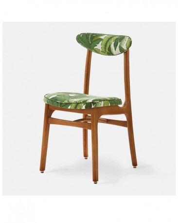Chair 50s Style Tropical JUNGLE WHITE made on order