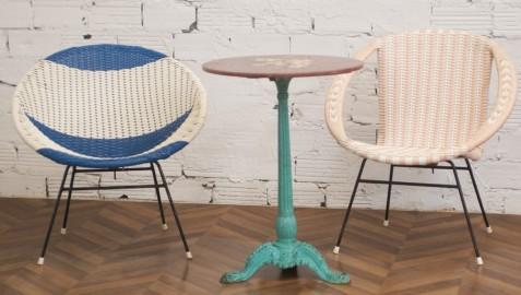 Vintage round armchair