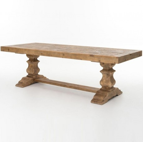SALVAGED BLEACH PINE DINING TABLE