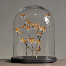 Oval Globe Orange Butterflies
