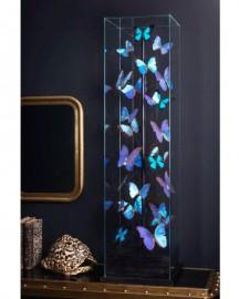 25 Blue Butterflies Square Globe H122cm