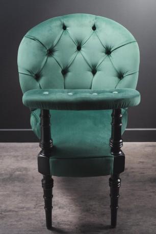 Green Velvet Smoking Chair