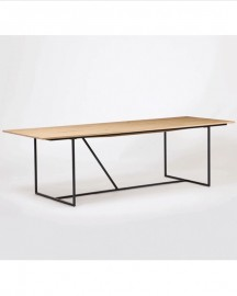 Made-to-Measure Natural Oak Dining Table W