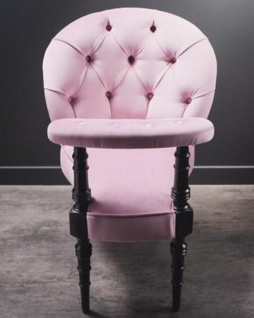 Pink Velvet Smoking or Casino Chair