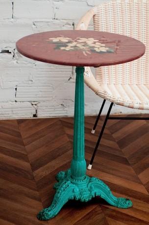 1920's pedestal bistro table