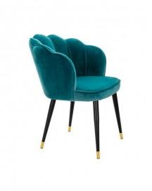 Velvet Dining Chair Sea Blue Capucine