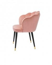 Velvet Dining Chair Pink Capucine