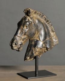 Black Horse Head Statue