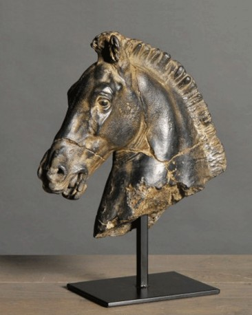 Black Horse Head Statue Monti Reproduction Horse