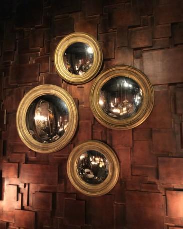 Witch Mirror ø75cm, Gold