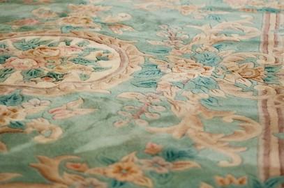 Tapis motif floral Belle Epoque