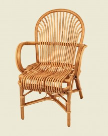 Natural Rattan Armchair, 20s Vintage Style