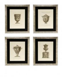 Gravures Vases Néo-Classiques H69cm, Set de 4