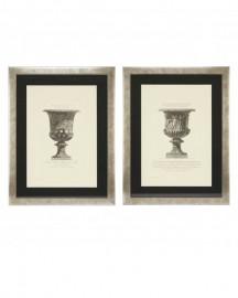 Gravures Vases Néo-Classiques - Set de 2