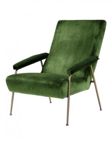 Basile Armchair Green Velvet & Brass
