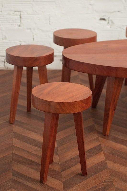 70u0027s Coffee Table And Stools.