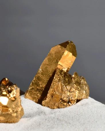Quartz Geode Cases - Gold - Set of 2