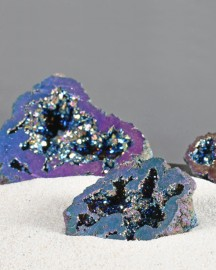 2 sets of Quartz Geodes - Iridescent