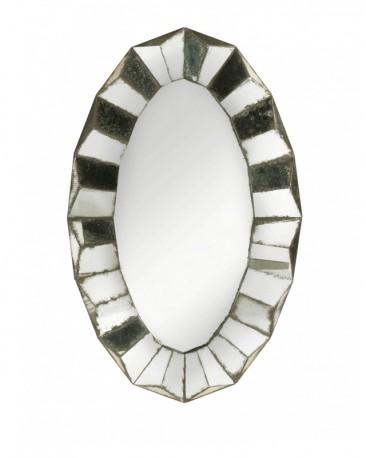 Venetian Mirror Wavy Oval Frame