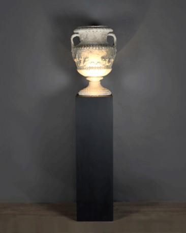 Black Lighting Column like Museum