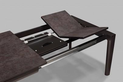 Black Ceramic Dining Table Ennio W/ Extensions