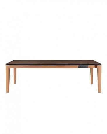 Table à Rallonges Bois & Céramique Ennio 200-300