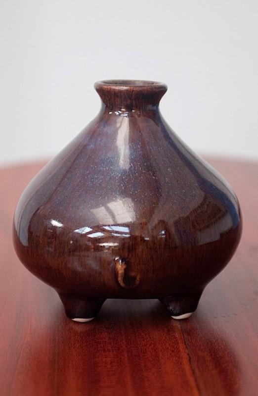 vase c ramique vintage ann es 70 objet artisanal. Black Bedroom Furniture Sets. Home Design Ideas