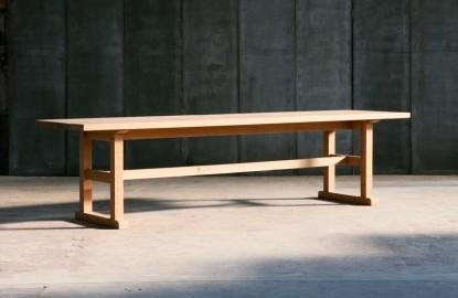 Table Chêne Massif Bénédictine L250cm