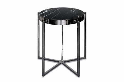 Guéridon Gable Marbre Noir ∅ 65 cm
