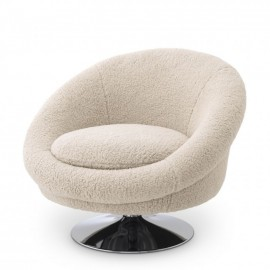 Swivel Chair J.Steed, Faux Shearling
