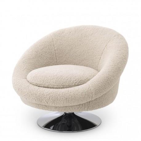 Swivel Chair J.Steed, Faux Shearling