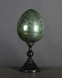 Green Cracked Ceramic Egg