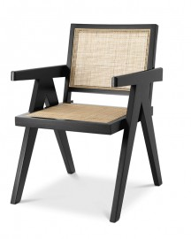 Rattan Dining Chair Renato, Jeanneret Style