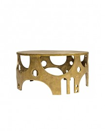 Round Coffee Table Seventies Gold
