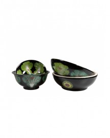 Glazed Ceramic Bowls, Set of 3